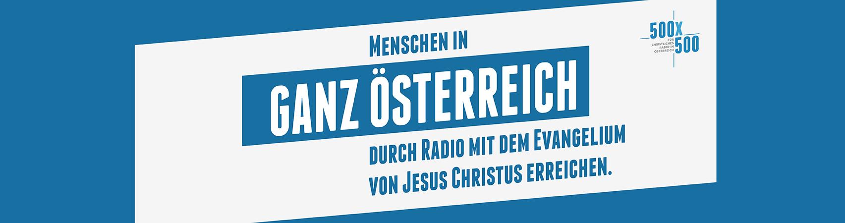 500mal500 für Christliches Radio in Österreich